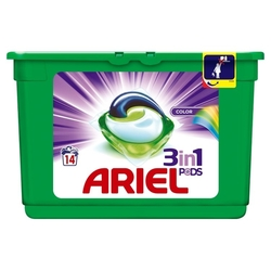 Ariel Power Capsules 14 ks Color 3X More Cleaning
