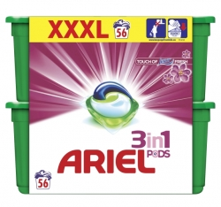 Ariel gelové kapsle 2x28ks Touch of Lenor